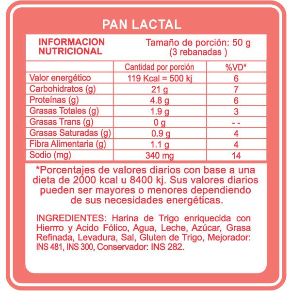 lactal pan: